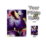 Purple Abstract Geometric Dream Playing Cards 54 (Mini)  Front - Heart9