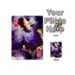 Purple Abstract Geometric Dream Playing Cards 54 (Mini)  Front - Heart10