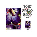 Purple Abstract Geometric Dream Playing Cards 54 (Mini)  Front - Diamond7