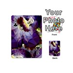 Purple Abstract Geometric Dream Playing Cards 54 (Mini)  Front - Club3
