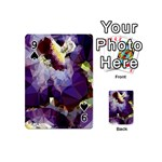 Purple Abstract Geometric Dream Playing Cards 54 (Mini)  Front - Spade9