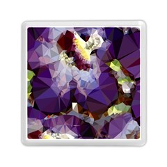 Purple Abstract Geometric Dream Memory Card Reader (square)  by DanaeStudio