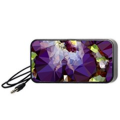 Purple Abstract Geometric Dream Portable Speaker (black)  by DanaeStudio