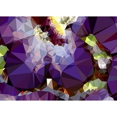 Purple Abstract Geometric Dream Birthday Cake 3d Greeting Card (7x5) by DanaeStudio