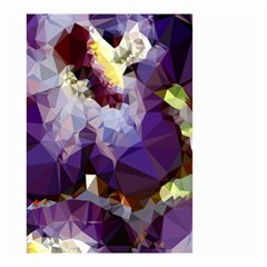 Purple Abstract Geometric Dream Small Garden Flag (two Sides) by DanaeStudio