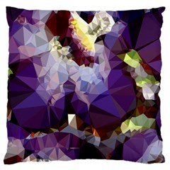 Purple Abstract Geometric Dream Large Cushion Case (one Side) by DanaeStudio