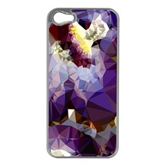 Purple Abstract Geometric Dream Apple Iphone 5 Case (silver) by DanaeStudio