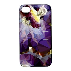 Purple Abstract Geometric Dream Apple Iphone 4/4s Hardshell Case With Stand by DanaeStudio