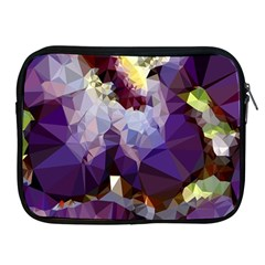 Purple Abstract Geometric Dream Apple Ipad 2/3/4 Zipper Cases by DanaeStudio