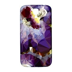 Purple Abstract Geometric Dream Samsung Galaxy S4 I9500/i9505  Hardshell Back Case by DanaeStudio