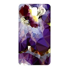 Purple Abstract Geometric Dream Samsung Galaxy Note 3 N9005 Hardshell Back Case by DanaeStudio