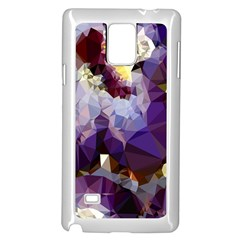 Purple Abstract Geometric Dream Samsung Galaxy Note 4 Case (white)