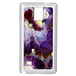 Purple Abstract Geometric Dream Samsung Galaxy Note 4 Case (White) Front