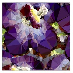 Purple Abstract Geometric Dream Large Satin Scarf (square) by DanaeStudio