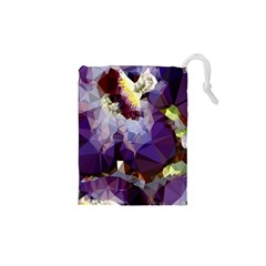 Purple Abstract Geometric Dream Drawstring Pouches (xs)  by DanaeStudio