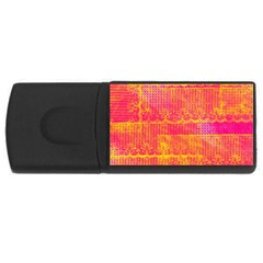 Yello And Magenta Lace Texture Usb Flash Drive Rectangular (4 Gb)  by DanaeStudio