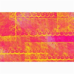 Yello And Magenta Lace Texture Collage Prints by DanaeStudio