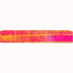Yello And Magenta Lace Texture Small Bar Mats by DanaeStudio
