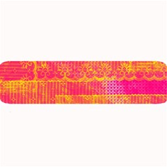 Yello And Magenta Lace Texture Large Bar Mats by DanaeStudio