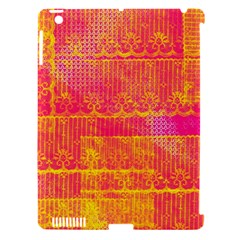 Yello And Magenta Lace Texture Apple Ipad 3/4 Hardshell Case (compatible With Smart Cover) by DanaeStudio