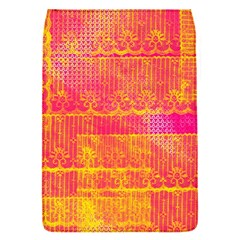 Yello And Magenta Lace Texture Flap Covers (s)  by DanaeStudio