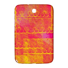 Yello And Magenta Lace Texture Samsung Galaxy Note 8 0 N5100 Hardshell Case  by DanaeStudio