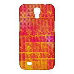 Yello And Magenta Lace Texture Samsung Galaxy Mega 6 3  I9200 Hardshell Case by DanaeStudio