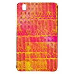 Yello And Magenta Lace Texture Samsung Galaxy Tab Pro 8 4 Hardshell Case by DanaeStudio