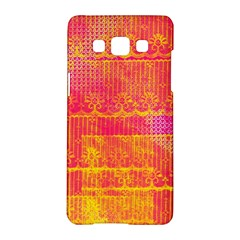 Yello And Magenta Lace Texture Samsung Galaxy A5 Hardshell Case  by DanaeStudio