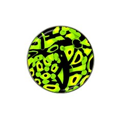 Green Neon Abstraction Hat Clip Ball Marker (10 Pack) by Valentinaart