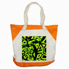 Green Neon Abstraction Accent Tote Bag by Valentinaart