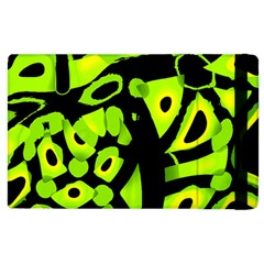 Green Neon Abstraction Apple Ipad 3/4 Flip Case by Valentinaart