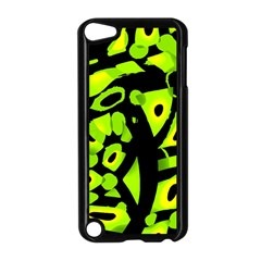 Green Neon Abstraction Apple Ipod Touch 5 Case (black) by Valentinaart