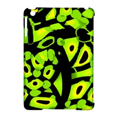 Green Neon Abstraction Apple Ipad Mini Hardshell Case (compatible With Smart Cover) by Valentinaart