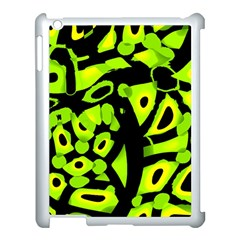 Green Neon Abstraction Apple Ipad 3/4 Case (white) by Valentinaart