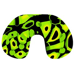 Green Neon Abstraction Travel Neck Pillows