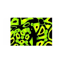 Green Neon Abstraction Satin Wrap by Valentinaart