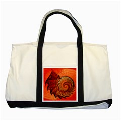 Nautilus Shell Abstract Fractal Two Tone Tote Bag by designworld65