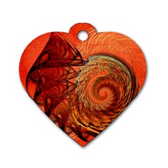 Nautilus Shell Abstract Fractal Dog Tag Heart (one Side) by designworld65