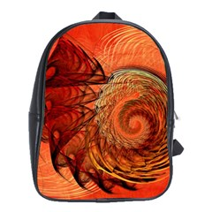 Nautilus Shell Abstract Fractal School Bags(large)
