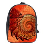 Nautilus Shell Abstract Fractal School Bags(Large)  Front