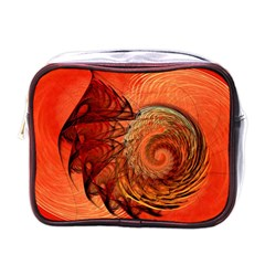 Nautilus Shell Abstract Fractal Mini Toiletries Bags by designworld65