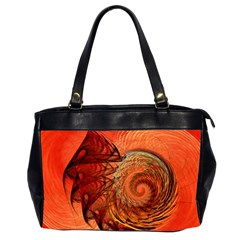 Nautilus Shell Abstract Fractal Office Handbags (2 Sides)  by designworld65