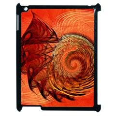 Nautilus Shell Abstract Fractal Apple Ipad 2 Case (black) by designworld65