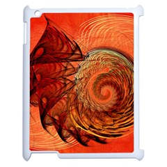 Nautilus Shell Abstract Fractal Apple Ipad 2 Case (white) by designworld65