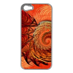 Nautilus Shell Abstract Fractal Apple Iphone 5 Case (silver) by designworld65