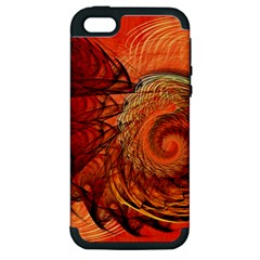 Nautilus Shell Abstract Fractal Apple Iphone 5 Hardshell Case (pc+silicone) by designworld65