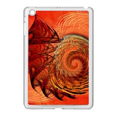Nautilus Shell Abstract Fractal Apple Ipad Mini Case (white) by designworld65