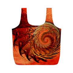 Nautilus Shell Abstract Fractal Full Print Recycle Bags (m)  by designworld65
