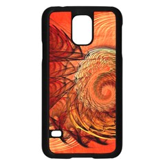 Nautilus Shell Abstract Fractal Samsung Galaxy S5 Case (black) by designworld65